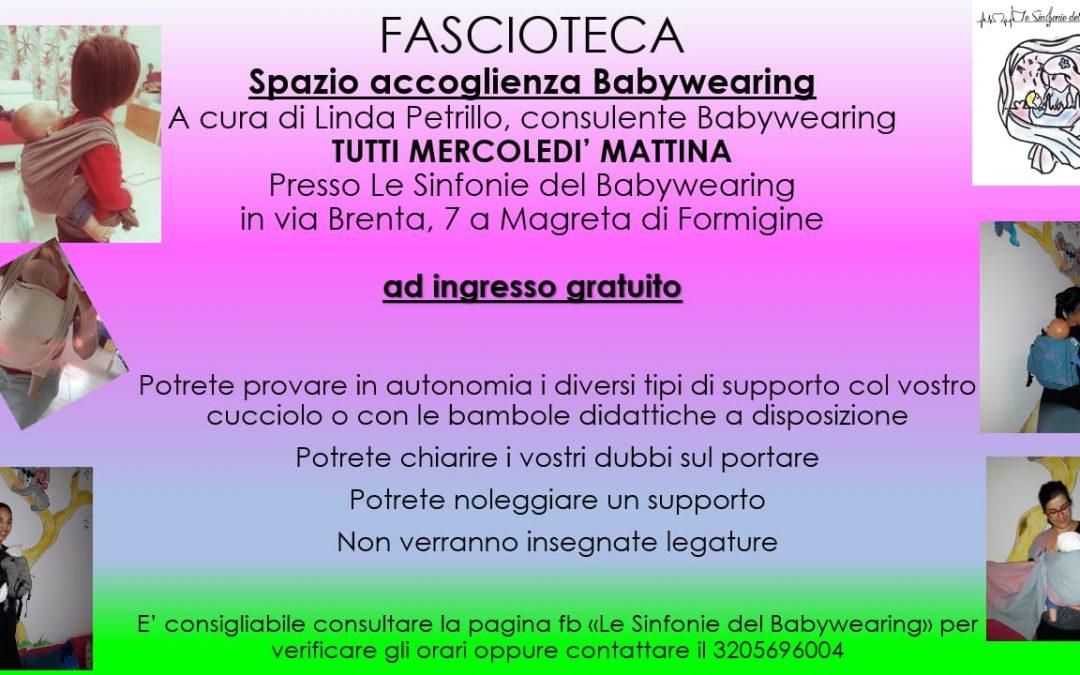 Spazio Accoglienza Babywearing gratuito ogni Mercoledì